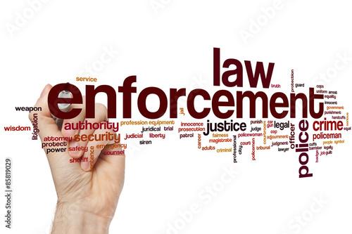 Fotografía  Law enforcement word cloud