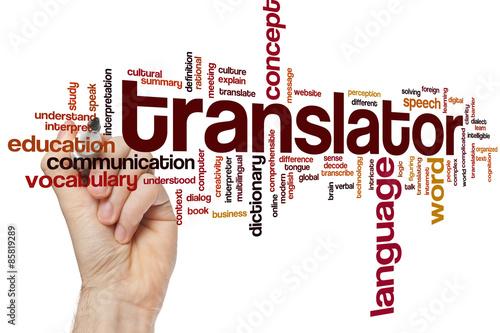 Fotografía  Translator word cloud