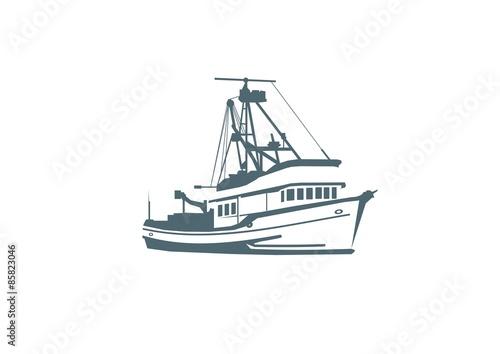Valokuvatapetti Fishing boat