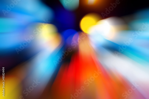 fototapeta na ścianę Abstract motion blur of traffic light background.