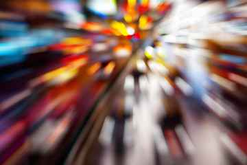 Abstract motion blur of traffic light background.