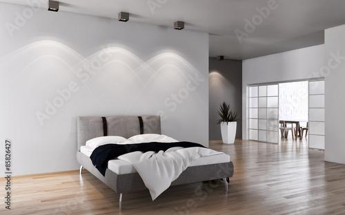 Camera da letto con parquet - Buy this stock illustration and ...