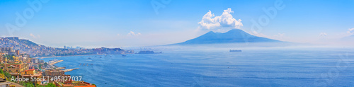 Fotobehang Napels Mount Vesuvius and Naples panorama