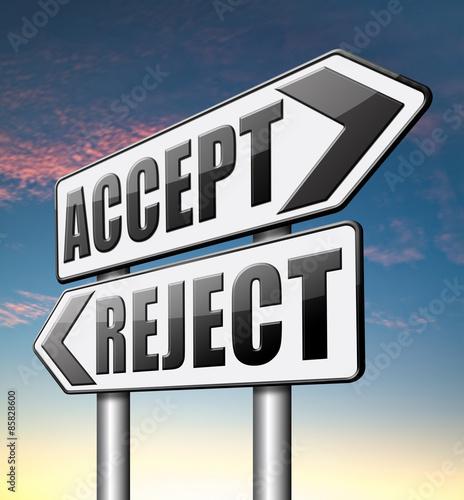 Fotografía  accept or reject