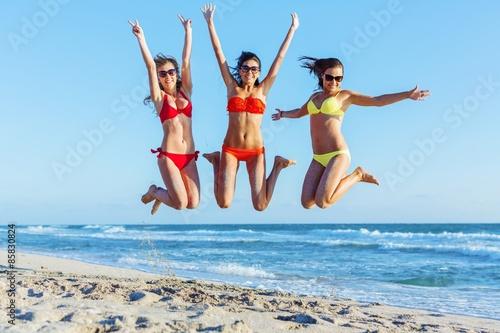 Obraz Bikini, fun, beach. - fototapety do salonu