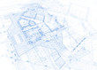 architecture blueprint - house plan / vector illustration