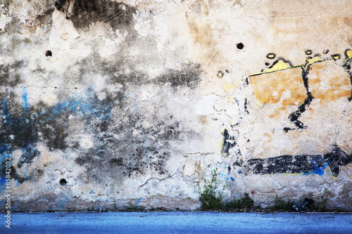 Foto op Aluminium Wand Urban Grunge - Colorful Wall Grafitti Background Texture.