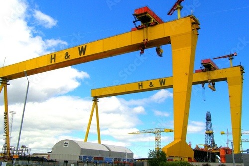 Gentle Giants / Shipyard cranes Fototapeta