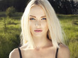 Leinwanddruck Bild - Beautiful Blond Woman in Forest