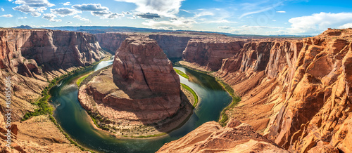 Canvas Prints Arizona Panorama view at the Horseshoe Bend
