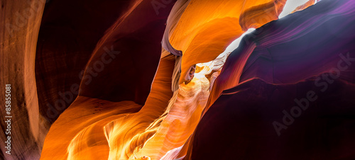 Foto auf Acrylglas Schlucht Inside the Upper Antelope Canyon