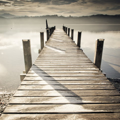 Obraz na Plexi wooden jetty (242)