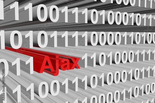 Photo  binary code Ajax
