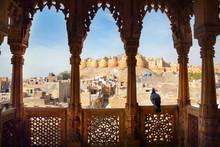 Jaisalmer Fort View From Haveli