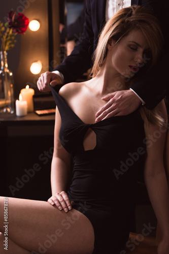 Breast touching pics Male Touching Woman Breast Stock Photo Adobe Stock