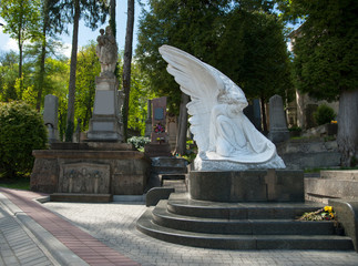 beautiful old cemetery in Lviv