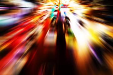 Abstract motion blur of traffic night light.