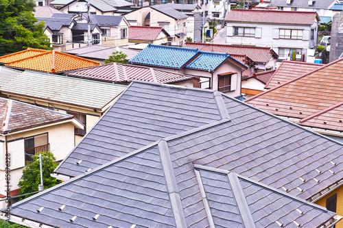 Foto  日本の住宅街の風景