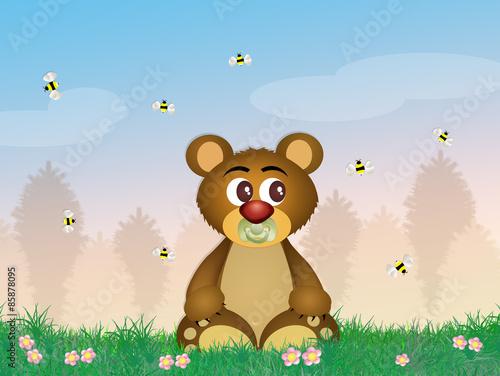 Canvas Prints Bears funny bear