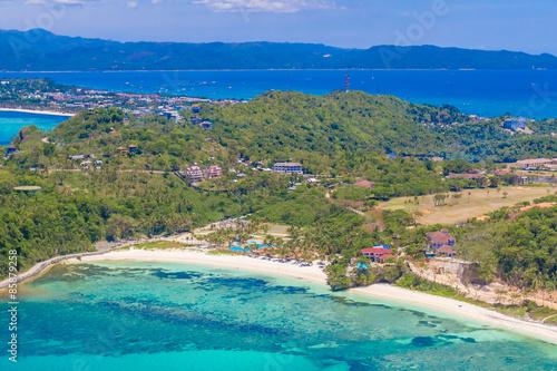 Printed kitchen splashbacks Turkey aerial view of Boracay island, Philippines