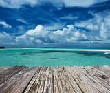 Widok na ocean z pomostu