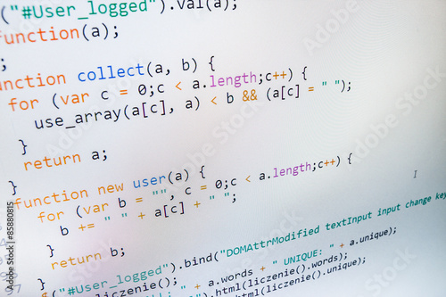 Programming code abstract screen of software developer. Wallpaper Mural