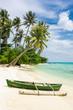 Boat on the beautiful tropical beach on Karimunjawa island, Indo