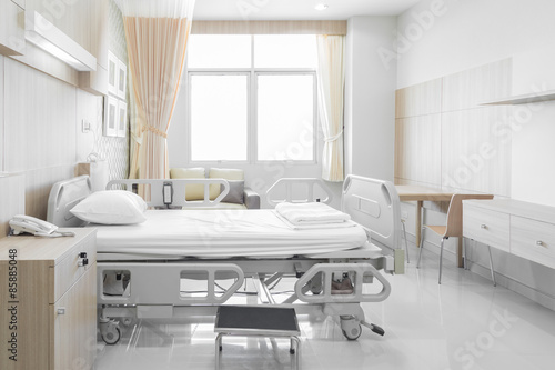 Fotografie, Obraz  Hospital room with beds and comfortable medical equipped
