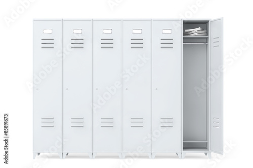 Obraz na plátne Grey Metal Lockers