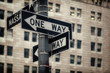 One Way Signs in Manhattan, New York