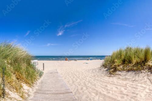 Tuinposter Noordzee Weg zum Strand