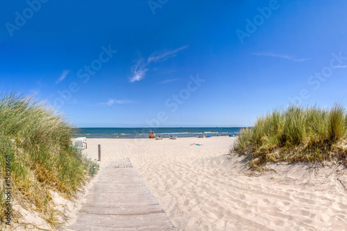 Keuken foto achterwand Noordzee Weg zum Strand