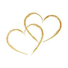 Zwei Herzen, Handzeichnung,