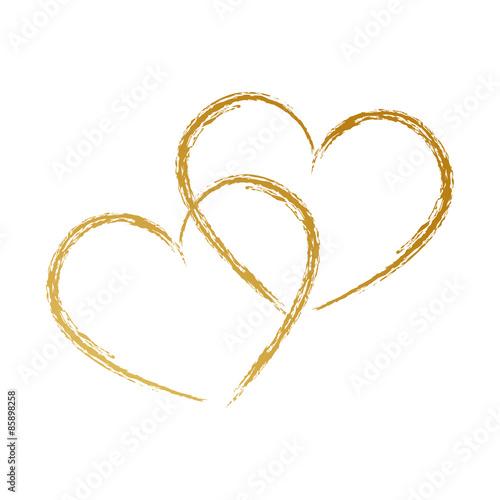 Photo  Zwei Herzen, Handzeichnung,