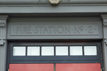 SEATTLE - JUNE 24, 2015 - Entrance Doors To The Fire Station Number 2 In Downtown Seattle