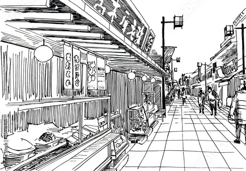 Shopping street #85916401