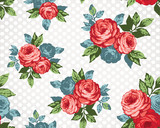 seamless pattern / vintage floral seamless pattern