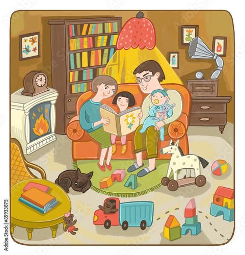 Папа, мама, дочь и сын - наклейка наавто наклейка на авто - семья ... | 500x481