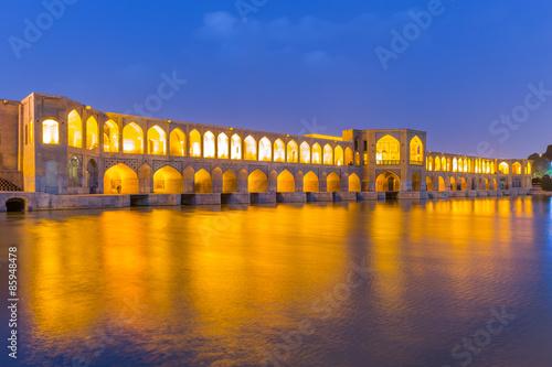 Fotografie, Obraz  Starobylé Khaju Bridge (Pol-e Khaju), v Isfahánu, Írán