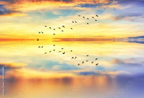 reflejos de las nubes en el mar calmado - 85948694