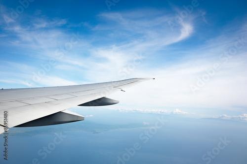 Foto  Meer und Flugzeug Flügel