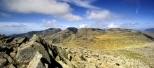 The Scafells From Bowfell Summit