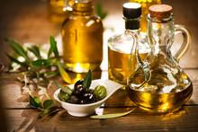 Olive Oil. Bottle Of Extra Vir...