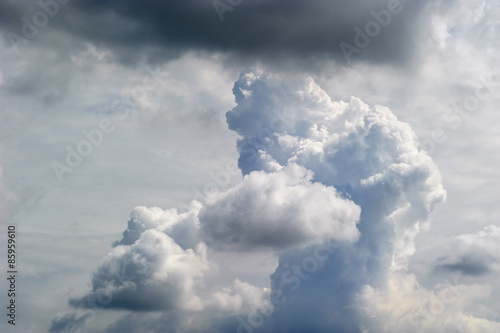 Canvas Prints Heaven dynamic clouds in the blue sky