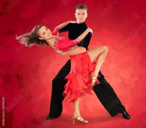 Fototapeta Dancing, Couple, Heterosexual Couple. obraz na płótnie