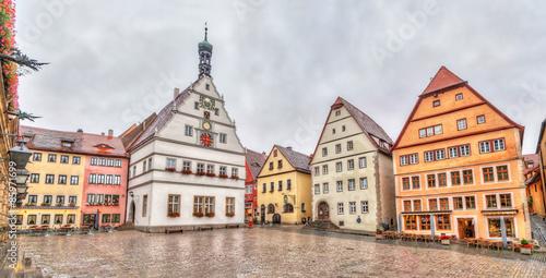 Fototapety, obrazy: Marktplatz - the main square of Rothenburg ob der Tauber