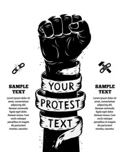 Raised Fist Held In Protest. V...