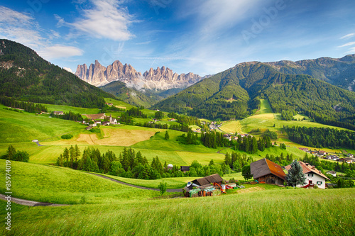 Spoed Foto op Canvas Alpen Dolomites alps, Mountain - Val di Funes