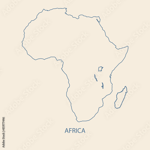 Africa Map Outline Vector Buy This Stock Vector And Explore