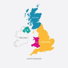 UNITED KINGDOM MAP, UK MAP Wit...